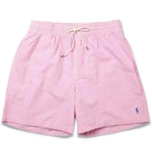 Polo Ralph Lauren Striped Cotton Blend Seersucker Swim Shorts  MR