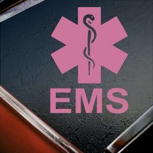 EMS Emergency Medical Services Pink Decal Window Pink Sticker