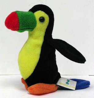 Zangeen Stuffed Plush Velour Toy Baby Penguin Bird 1996 Beanie