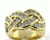 50 CT Ladys Round Diamond Ring VS2/H14K Yellow Gold