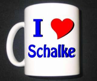 mit Druck I Love Tasse für Schalke Fans  I Love Schalke