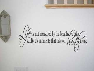 Life is NOT Measured Quote Lettering Vinyl Wall Decal