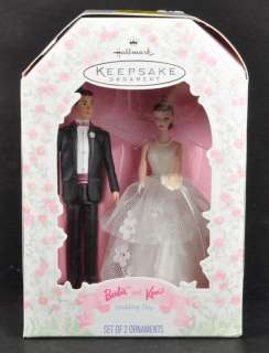 1997 Barbie and Ken Wedding Day Hallmark Keepsake Ornament Cake Topper