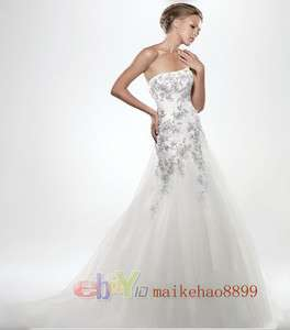 Wedding Dress Bride Prom Ball Gown Size 6 8 10 12 14 16 18 + +