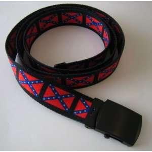 New Confederate Flag Colors Cotton Web Style Belt 48
