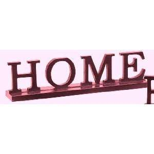 12 Red Wood Word Block Sign   Home  Home & Kitchen