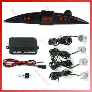 Car 4 Reverse Parking Sensor System Backup Radar LED G