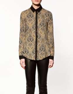Ladies Flower Print Womens Long Sleeve Casual Smock Shirt Blouses S M