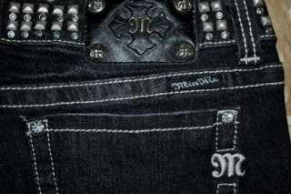 Me Crystal Studded Waist Dash & Shine Skinny Jeans sz 31 NEW by Mek