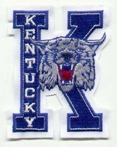 OLD KENTUCKY WILDCATS LG LOGO PATCH Mint in ORIG PKG