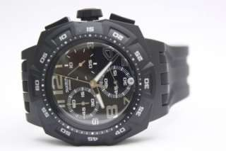 New Swatch Men Mister Chrono Black Rubber Band Date Watch SUIB400