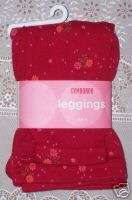 NWT Gymboree PERUVIAN DOLL Red Floral Print Leggings 4