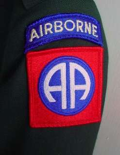 Class A Uniform Coat & Trousers 82nd Airborne Division Size 38 AG 489
