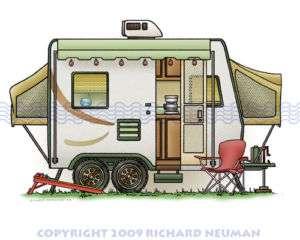 540 Expandable Hybred Camper RV Print Wall Decor Art