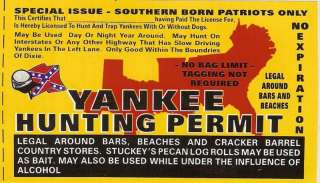 YANKEE Hunting Permit Sticker Decal