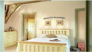 Always Kiss Me Goodnight Home Vinyl Wall Art Decal Sticky Decor