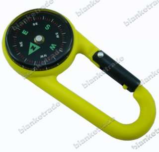 Carabiner Key Compass Hiking Outdoor Travel Blue 03
