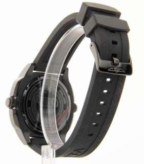 Mens Black Rubber Strap Date Internal Rotating Diver Bezel Swiss Watch