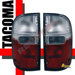 95 00 TOYOTA TACOMA RED CLEAR TAIL LIGHTS 96 97 98 99