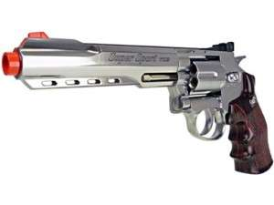 400 FPS Airsoft WG CO2 M702 XL Revolver Pistol Silver