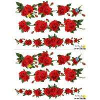 WALL STICKERS Mural Red Climbing rose 22.5x27.5 CP047
