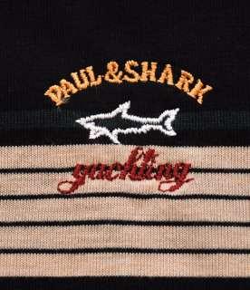 PAUL & SHARK YACHTING SHIRT ~ XXL POLO STYLE STRIPES logo FREE US