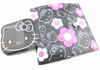 BLACK Hello Kitty Big Face Purses Wallet with Zip party Favour
