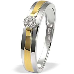Goldmaid Damen Ring Gold 585 Bicolor 1 Brillant 0,25ct SI