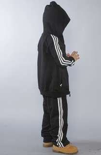 adidas The Hooded Flock Tracksuit in Black White  Karmaloop