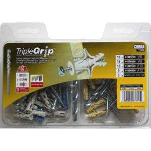 Triple Grip 50 Piece Multi Purpose Anchor Kit with Screws 176K at The