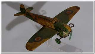 WAR PLANE WIND UP CLOCKWORK EARLY BRITISH WWII AIRCRAFT