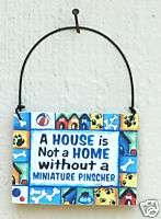 Miniature Pinscher DOG SIGN Doberman pincher minpin Min