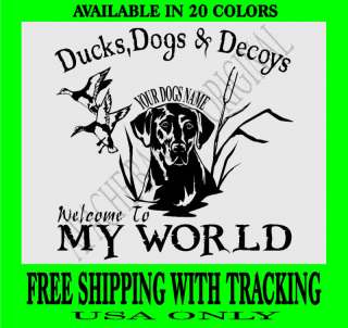 DUCK HUNTING DECAL Lab Dog EXTRA LARGE Goose 1207XL