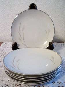 VINTAGE MOON WHEAT FINE CHINA JAPAN BREAD BUTTER PLATES