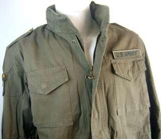 VIETNAM WAR US ARMY M65 FIELD JACKET SIZE L  4553