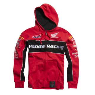 Fox Racing Factory Honda Race Team Zip Up Hoody Red Logo Adult Size