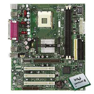 Intel 845PT Socket 478 Motherboard with Intel Pentium 4 2.4GHz & Fan