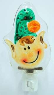 FUSION GLASS Night Light ELF Christmas ART 1725380