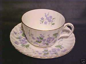 ROYAL ADDERLEY   SWEET FORGET ME NOT   CUP & SAUCER