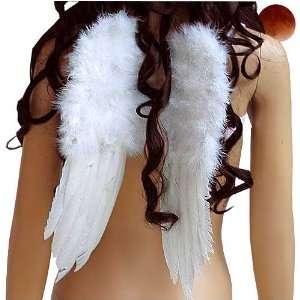 ENGELSFLÜGEL WHITE ANGEL GOTHIC WEIHNACHTEN 40 x 30 CM