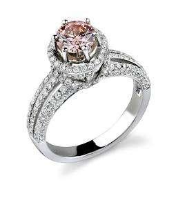 78 TCWT FANCY PINK NATURAL DIAMOND RING
