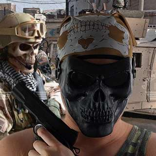 Skull Airsoft Paintball BB Gun Wargame Protective Gear Full Face Mask