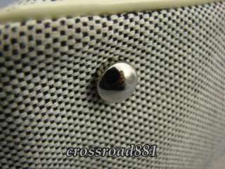 Gray Cotton Canvas Hand / Shoulder Tote Bag Very Good Condition