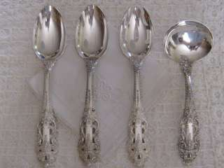 Antiq GORHAM, CROWN BAROQUE STERLING SILVER FLATWARE, SEATS 8 Plus