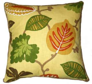 New Yellow, Green, Orange Pillow 20 Square