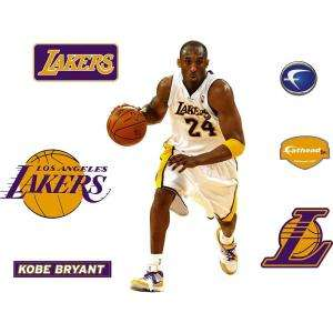 Fathead 18 in. x 32 in. Kobe Bryant Los Angeles Lakers Logo Wall