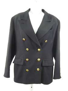 JEAN PAUL GAULTIER Black Wool Blazer Jacket Sz 44