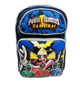 NWT Power Rangers Samurai Large Backpack Bag 16 (100% Authentic