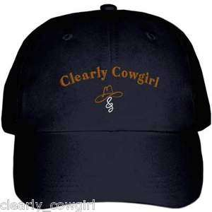 WESTERN RUST CLEARLY COWGIRL BLACK ADJUSTABLE BALL CAP HAT   WOW