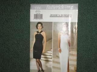 sew pattern butterick # 3366 new uncut dress halter evening gown